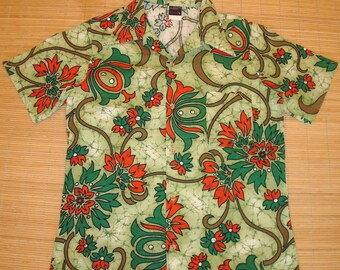 Mens Vintage 70's JC Penney KILLER Hawaiian Aloha Shirt - L -  The Hana Shirt Co