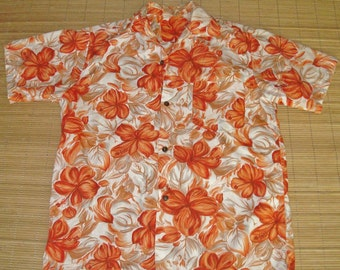 Men's Vintage 60s Mod Floral Hawaiian Aloha Shirt - M - The Hana Shirt Co