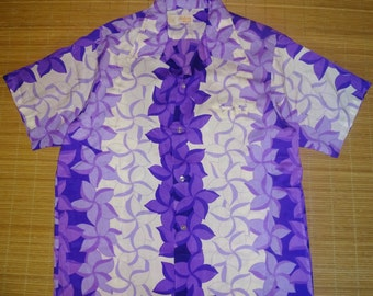 Mens Vintage 70s Maluna Killer Floral Hawaiian Aloha Shirt - XL -  The Hana Shirt Co
