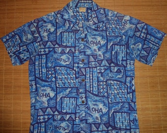 Mens Vintage 50s Hale Hawaii Hawaiian Shirt - M -  The Hana Shirt Co