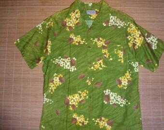 Mens Vintage 60s Waltah Clarke's Hawaiian Aloha Shirt - M - The Hana Shirt Co