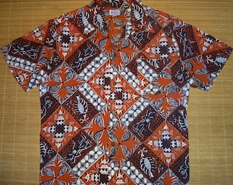 Mens Vintage 50s Kahala Burdines ASIAN Fusion Hawaiian Shirt - XL -  The Hana Shirt Co