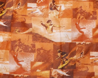 Mens Vintage 70s Penneys Hawaii Surfing Surf Photo Print Hawaiian Shirt - L - The Hana Shirt Co
