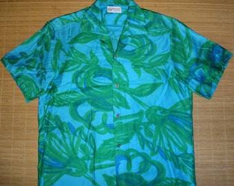 Mens Vintage 60s Kaanapali Resort Shops Hawaiian Aloha Shirt - L -  The Hana Shirt Co