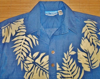 Mens Vintage 70s OP Pullover Pullover Hawaiian Lei Surf Shirt - L -  The Hana Shirt Co