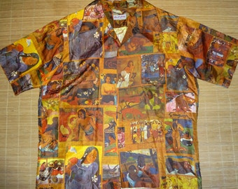 Mens Vintage 70s Gauguin Tahiti Nude Hawaiian Aloha Shirt - XL -  The Hana Shirt Co
