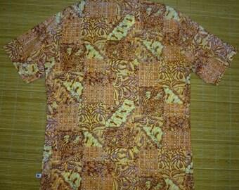 Men's Vintage 70s Hang Ten Surf Feet Hawaiian Aloha Shirt - M - The Hana Shirt Co