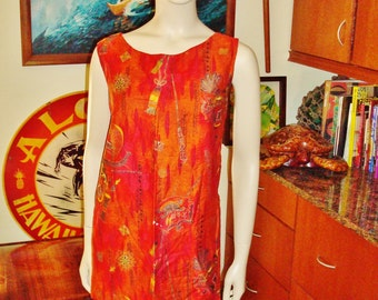 Vintage Hawaiian Dress M