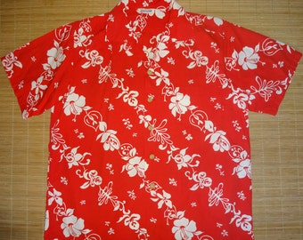 Mens Vintage 50s Casual Elegance Hawaiian Aloha Shirt - L - The Hana Shirt Co