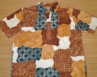 Mens Vintage 60s Reyn Spooner Patchwork Pullover Hawaiian Shirt - XL -  The Hana Shirt Co