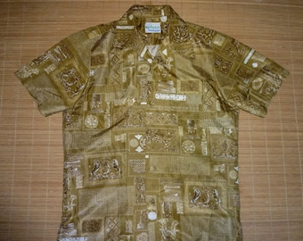 Mens Vintage 70s Kahala Lion Hawaii Hawaiian Shirt - S -The Hana Shirt Co