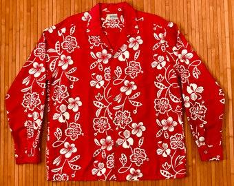 Men's Vintage 50's-60's Andrade LONG SLEEVE Hawaiian Shirt-XL-The Hana Shirt Co