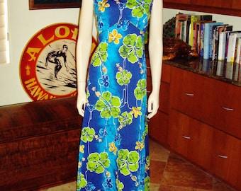 Vintage 60s Hawaiian Dress by Royal Hawaiian Barkcloth - M - The Hana Shirt Co