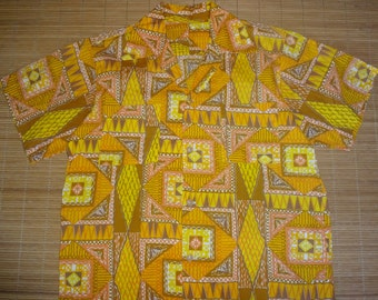Mens Vintage Aloha Golden Isle Hawaiian Shirt - M -  The Hana Shirt Co
