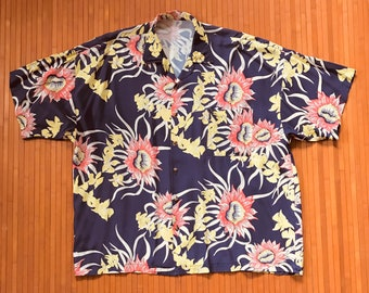 Men's Vintage 60s-70s Rayon Hawaiian Shirt-XXL-The Hana Shirt Co