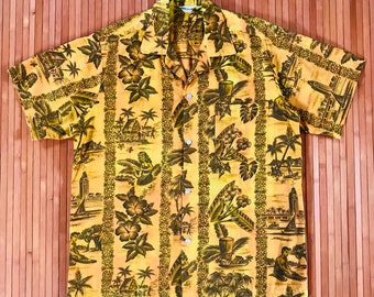 Men's Vintage 50's Made in Hawaii Life in the Islands Aloha Shirt