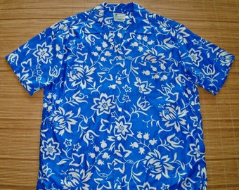 Mens Vintage 60s Kaluna Hawaii Mod Hawaiian Shirt - L - The Hana Shirt Co