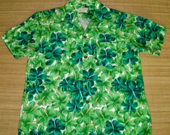 Mens Vintage 60s Royal Hawaiian Floral Shirt - L - The Hana Shirt Co