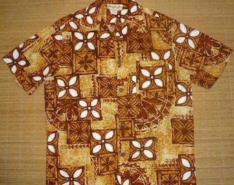 Mens Vintage 60s Chief Honolulu Hawaiian Tiki Idol Surf Shirt - M - The Hana Shirt Co