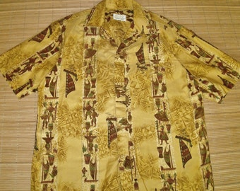 Vintage 60s McInerny's Rockabilly Mod Hawaiian Aloha Surf Shirt - M - The Hana Shirt Co