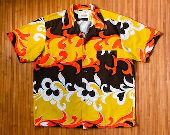 Men's Vintage 60s-70s Kamehameha Sunday Best Hawaiian Shirt-XXL-The Hana Shirt Co