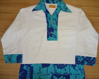 Vintage 70s Hoapaka Hawaii Hawaiian Shirt - M -The Hana Shirt Co