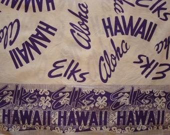 Mens Vintage 70s Guy Romo Hawaii ELKS CLUB BPOE Hawaiian Aloha Shirt - L - The Hana Shirt Co