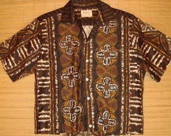 Mens Vintage 60's Royal Mens Shop Cotton Hawaiian Bowling Style Aloha Shirt - L -  The Hana Shirt Co