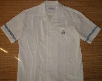 Mens Vintage 60s Andrade Tribal Tiki Hawaiian Rockabilly Aloha Shirt - L - The Hana Shirt Co