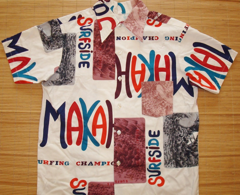 882d2127b2a Mens Vintage 60s Makaha Surf Championships Duke Kahanamoku