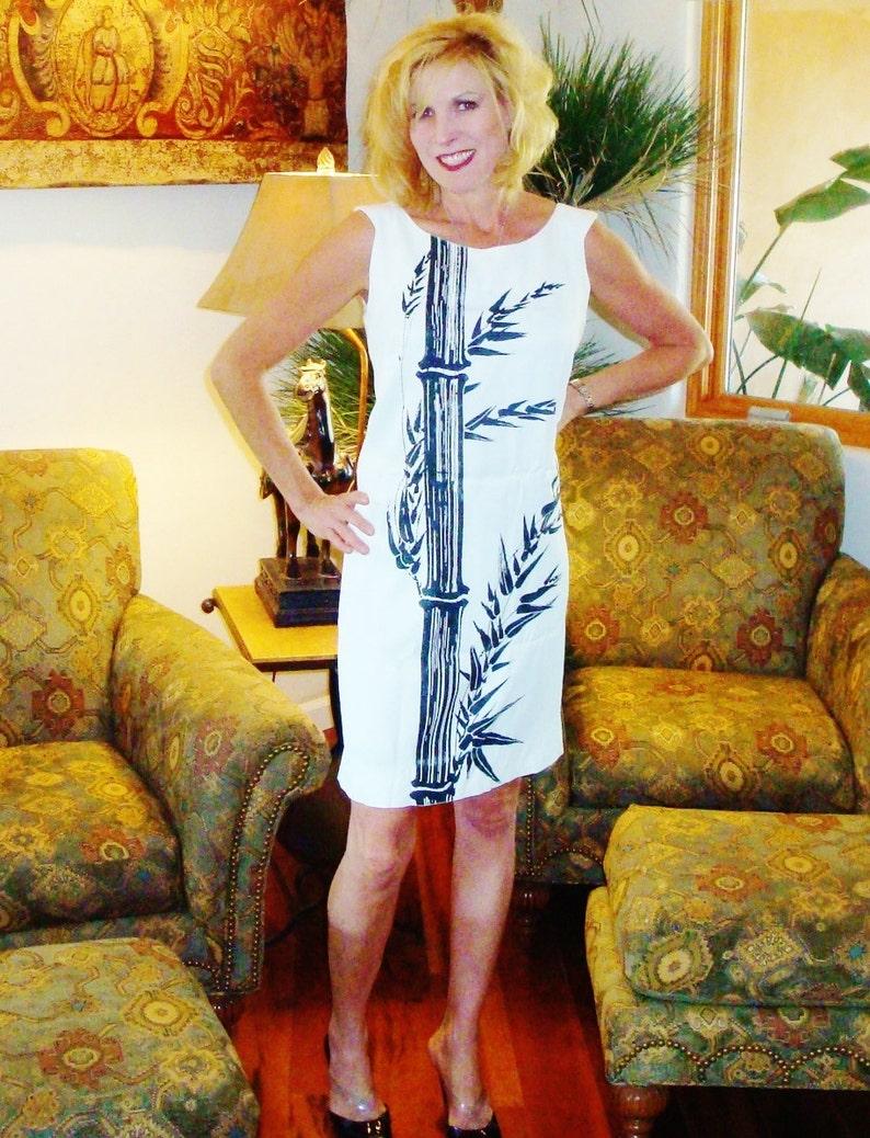 f981bdedeff85 Ladies Vintage 60s Alfred Shaheen Shift Bamboo Hawaiian Dress   Etsy