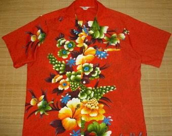 Vtg Hawaiian Shirt 2-3XL