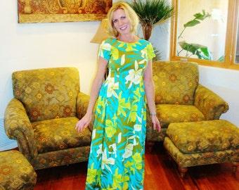 Vintage Hawaiian Dress S
