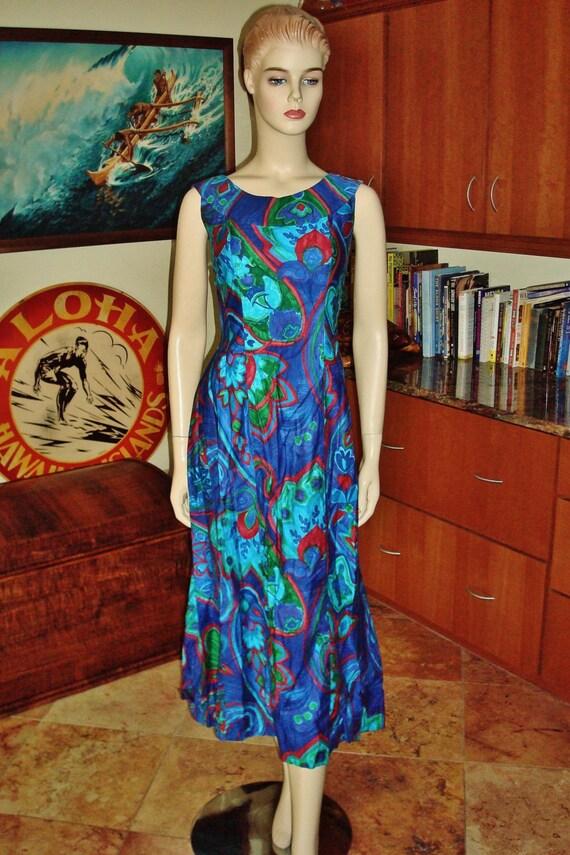 Vintage 60s Hawaiian Dress by Tori Richard Honolul