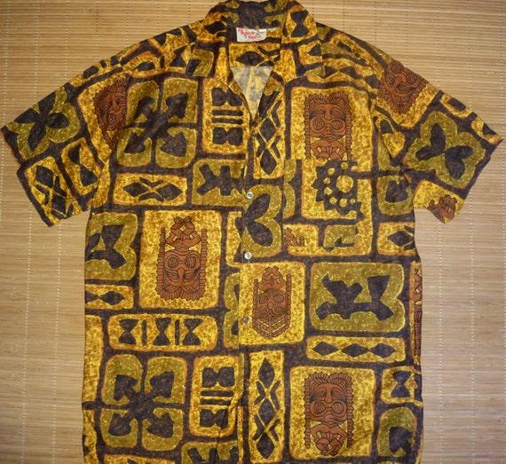 85524519 Mens Vintage 60s Go Barefoot Luau Aloha Shirt Shirt M The | Etsy