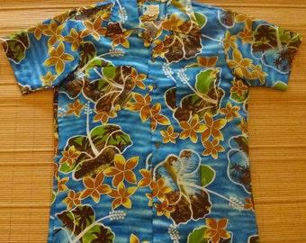 Men's Vintage 70s Waikiki Holiday Floral Wonder Hawaiian Aloha Shirt -  M - The Hana Shirt Co