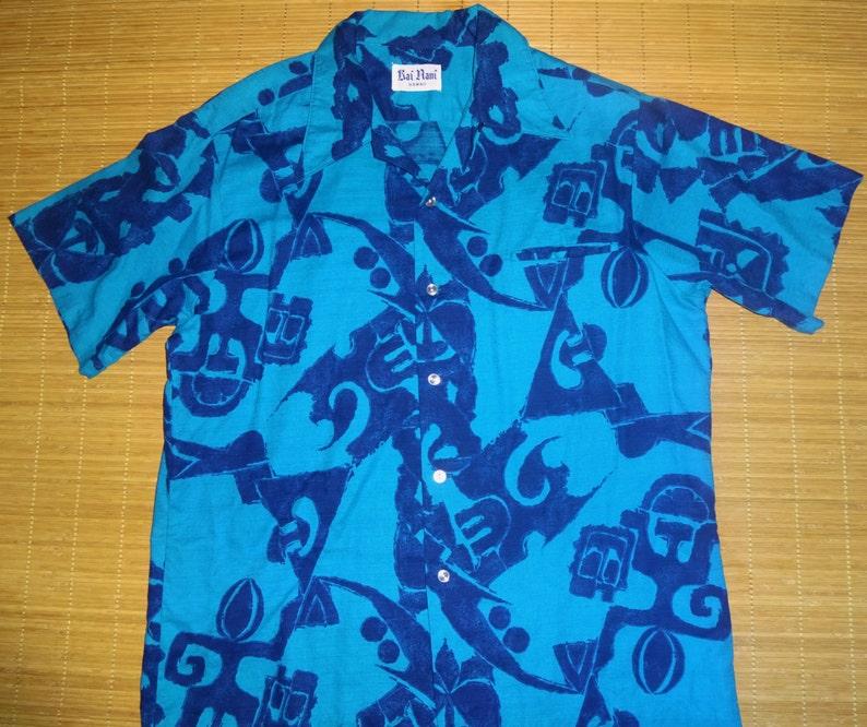 27dd2369 Mens Vintage 60s Kai Nani Tribal Tiki Dudes Hawaiian Shirt | Etsy