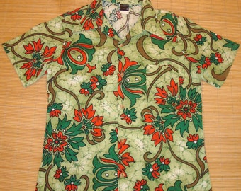 Mens Vintage 70's JC Penney KILLER Hawaiian Aloha Shirt - L -  The Hana Shirt Co