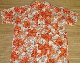 Men's Vintage 60s Mod Floral Hawaiian Aloha Shirt - M - The Hana Shirt Co