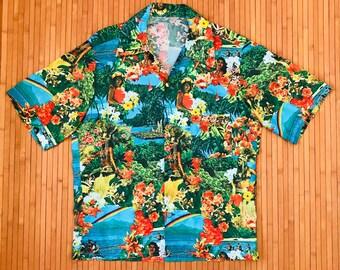 Men's Vintage 60's-70's? Home in the Islands Hawaiian Shirt-XL-The Hana Shirt Co
