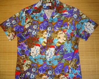 Mens Vintage 70's Andrade Photo Print Pineapple Hawaiian Aloha Shirt - L -  The Hana Shirt Co