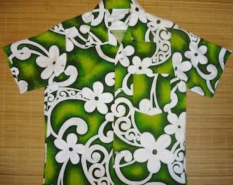 Mens Vintage 70s Floral Hawaii Hawaiian Aloha Shirt - S - The Hana Shirt Co
