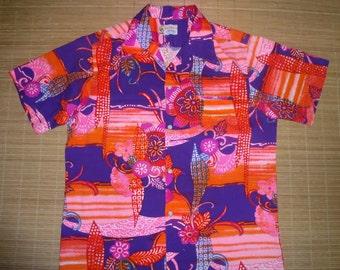 Men's Vintage 70s Keoki's WILD Child Hawaiian Shirt - XL - The Hana Shirt Co