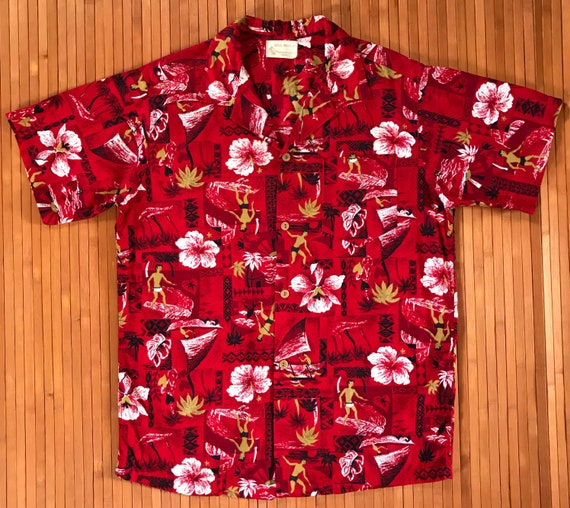 Men's Vintage 50's Royal Hawaiian Kane Aloha Shirt