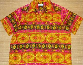 Mens Vintage 60s Sears Mod Groove Master Hawaiian Aloha Shirt - XL -  The Hana Shirt Co