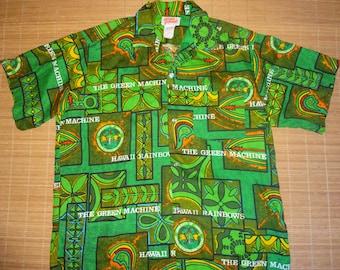 Mens Vintage 70s University Of Hawaii Football Hawaiian Aloha Shirt - XL -  The Hana Shirt Co
