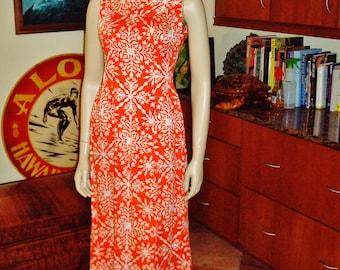 Vintage Hawaiian Dress L