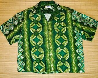 Mens Vintage 60s Andrade BOWLING Hawaiian Shirt - L - The Hana Shirt Co