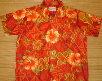 Mens Vintage 60's Koi Kane MOD Rockabilly Hawaiian Shirt - M -  The Hana Shirt Co