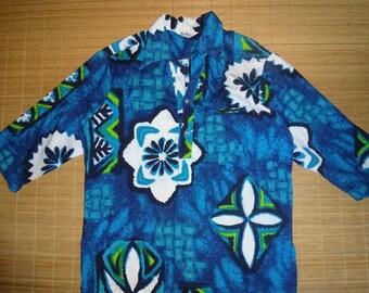 Mens Vintage 70s Reef Bark Cloth Hawaiian Aloha Shirt - M - The Hana Shirt Co